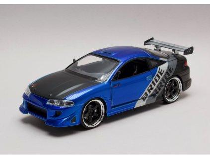 Mitsubishi Eclipse 1995 modro-černá 1:24 Jada Toys