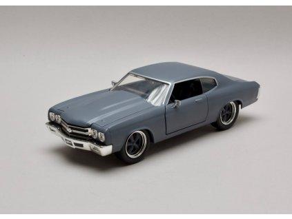 Chevrolet Chevelle SS 1970 šedá Dom`s Rychle a zb 1:24 Jada Toys