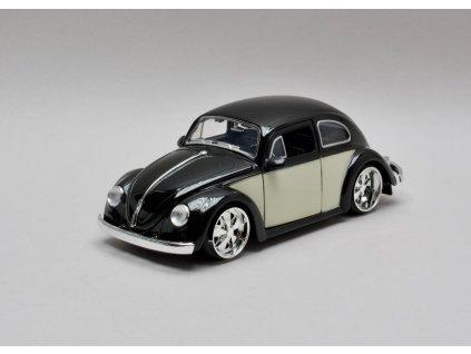 Volkswagen Beetle 1959 černá-bílá 1:24 Jada Toys