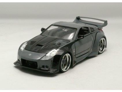Nissan 350Z 2003 šedá+potisk Rychle a zb. 1:24 Jada Toys