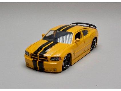 Dodge Charger SRT8 2006 žlutá - černé pruhy 1:24 Jada Toys