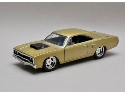 Plymouth Road Runner 1970 zlato-žlutá 1:24 Jada Toys