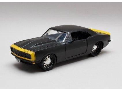 Chevrolet Camaro 1967 černá matná 1:24 Jada Toys