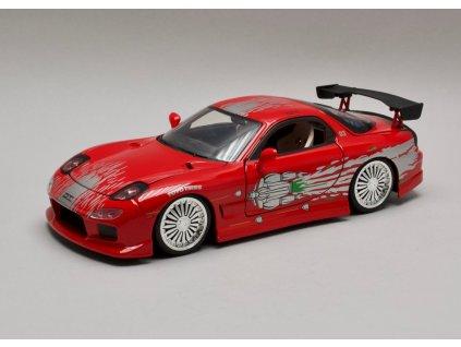 Mazda RX-7 1995 červená Dom's Rychle a zb. 1:24 Jada Toys