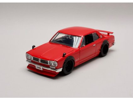 Nissan Skyline GT-R 1971 KPGC10 červená 1:24 Jada Toys