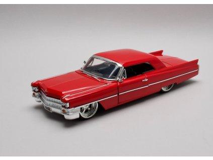 Cadillac 1963 Series 62 Hard top červená 1:24 Jada Toys
