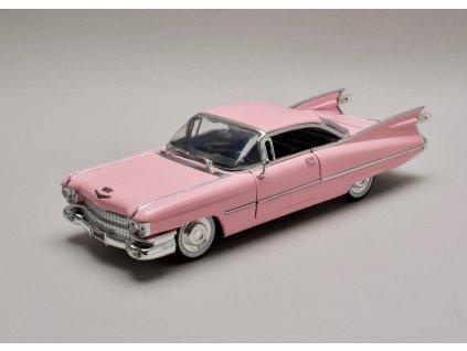 Cadillac 1959 Coupé Deville Hard top růžová 1:24 Jada Toy