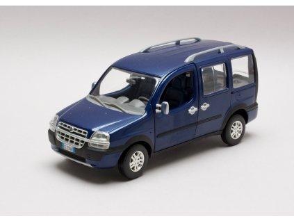 Fiat Doblo Malibu 2003 tm. modrá 1:24 Norev