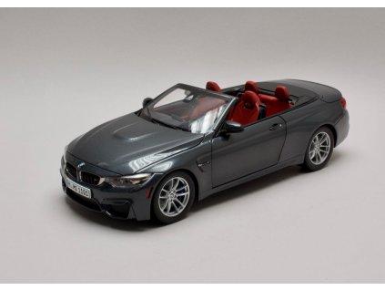BMW M4 F83 Convertible 2015 šedá Mineral 1:18 Paragon
