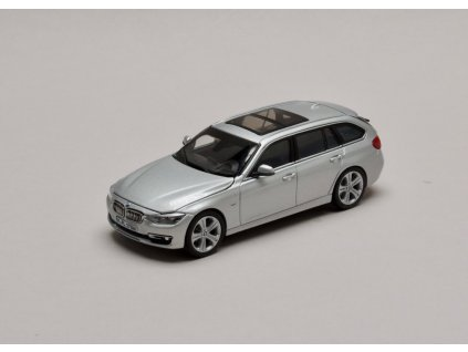 BMW 3 Series Touring 2013 stříbrná (F31) 1:43 Paragon