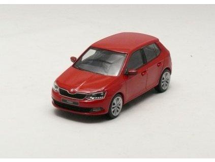 Škoda Fabia III Htb červená 1:43 i-scale