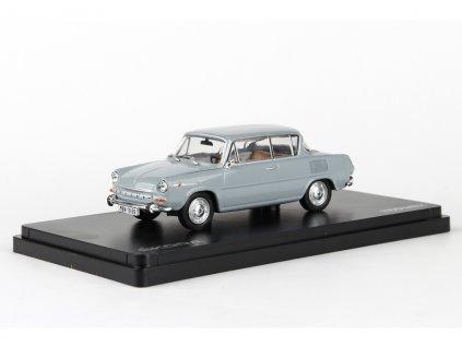 Škoda 1100MBX 1969 šedá námořní 1:43 Abrex