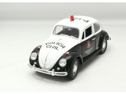 Volkswagen Beetle 1967 Policia Brasil 1:18 Greenlight