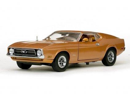 Ford Mustang Sportsroof 1971 metalíza hnědá 1:18 Sun Star