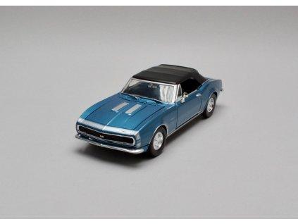 Chevrolet Camaro SS 1967 Soft top met modrá 1:24 Motor Max