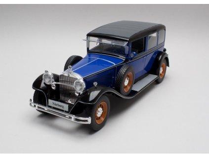 Mercedes-Benz typ Nuerburg 460/K 1928 modrá (W08) 1:18 MCG