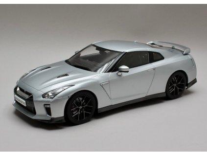 Nissan Skyline GT-R 2017 stříbrná 1:18 Triple9 Collection