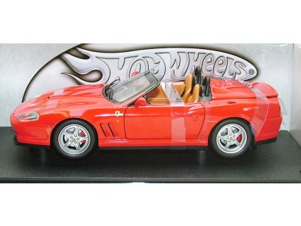 Ferrari 550 Barchetta červená 1:18 Hot Wheels