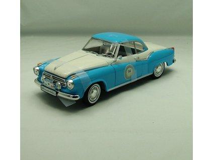 Borgward Isabella Coupé Racing 1957 modro-bílá 1:18 Revell