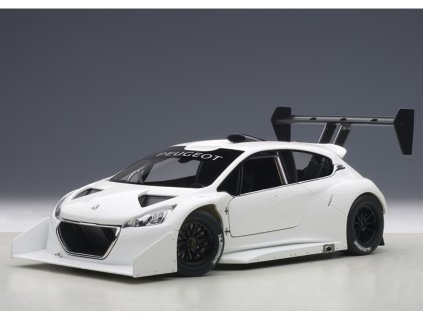Peugeot 208 T16 Pikes Peak Race Version Plain Body bílá 1:18 Auto Art