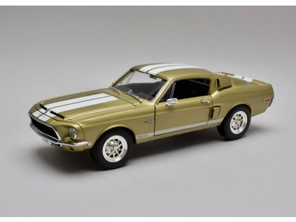 Ford Mustang Shelby GT500KR 1968 zlatá 1:18 Lucky Diecast