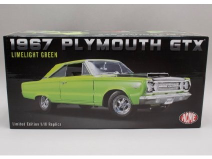 Plymouth Hemi GTX 1967 Limelight green zeleno cerna 1 18 ACME 1806703 01