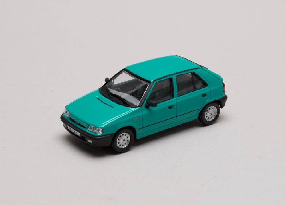 """Škoda Felicia 1994 """"plechové disky"""" zelená Atlantická 1:43 Abrex"""
