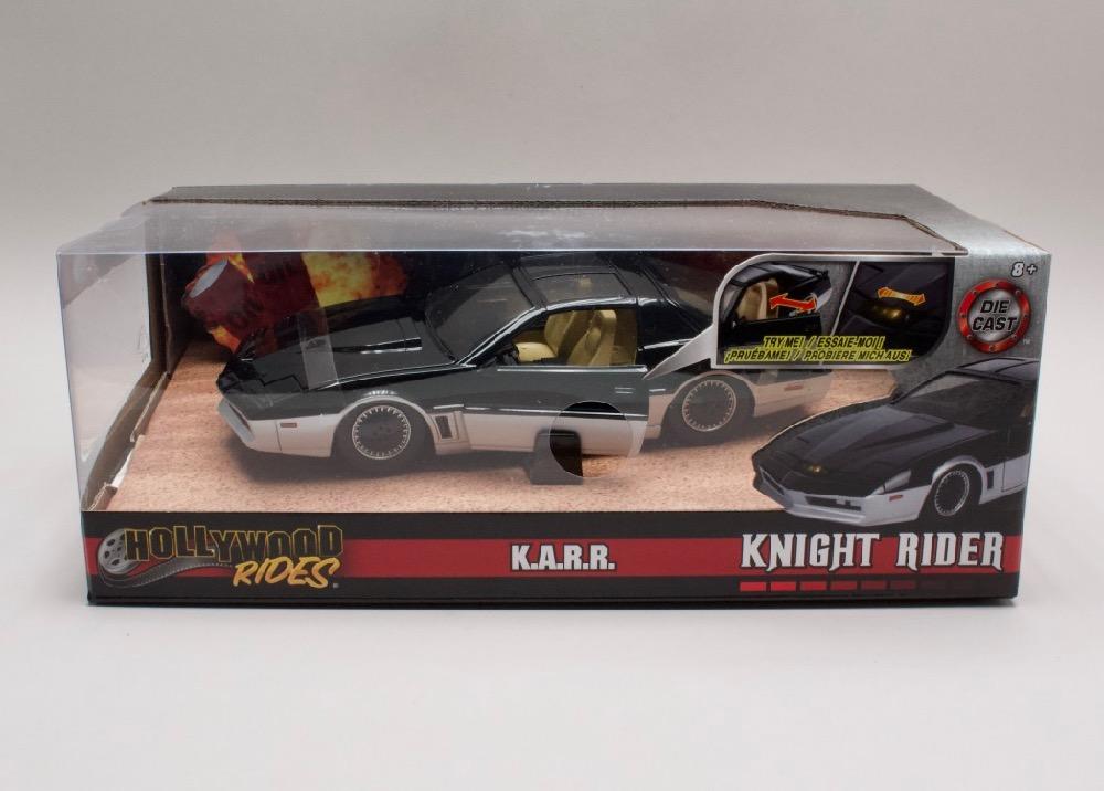 """Pontiac Firebird 1982 """"Knight Rider"""" + blikající scaner 1:24 Jada Toys"""