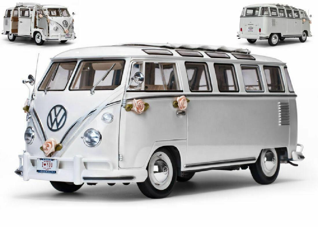 Volkswagen Samba 1962 Svatební verze bílá 1:12 Sun Star