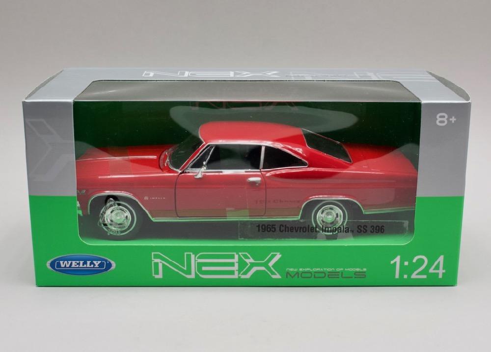 Chevrolet Impala SS 396 1965 červená 1:24 Welly