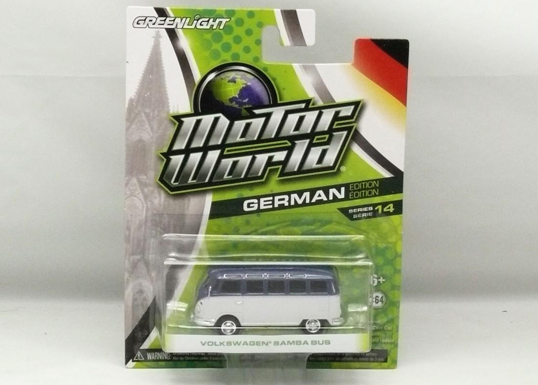 VW Samba Bus modro-bílá Motor World 1:64 Greenlight