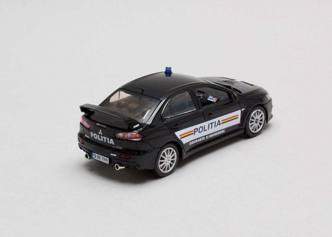 Mitsubishi Lancer EVO X Romanian Police 1:43 Vitesse
