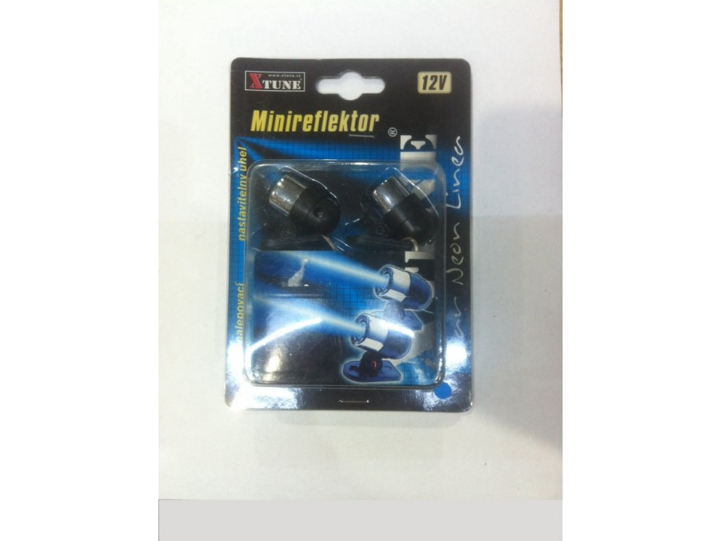 Minireflektor 12V modrý sada 2ks XTUNE