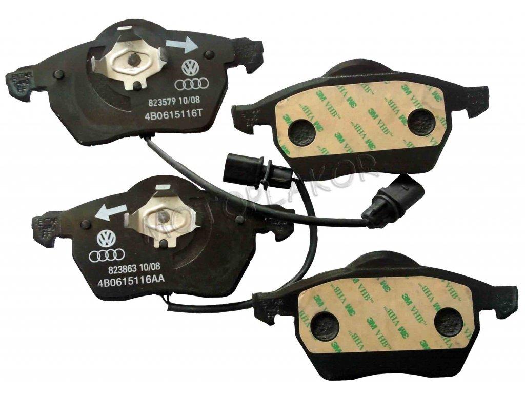 Brzdové destičky přední SUPERB / AUDI / VW se signalizací   ZIMMERMANN / DE (4B0698151J, 4B0698151N, 8E0698151K )