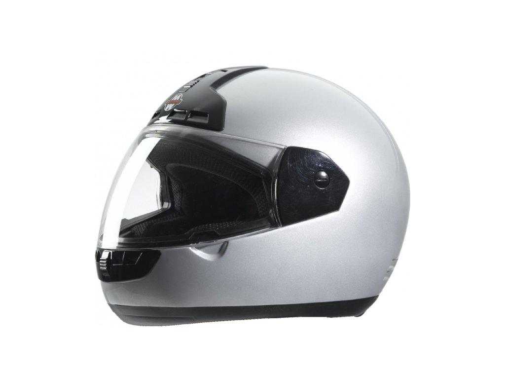 Přilba MOTOWELL FF1 stříbrná integrální