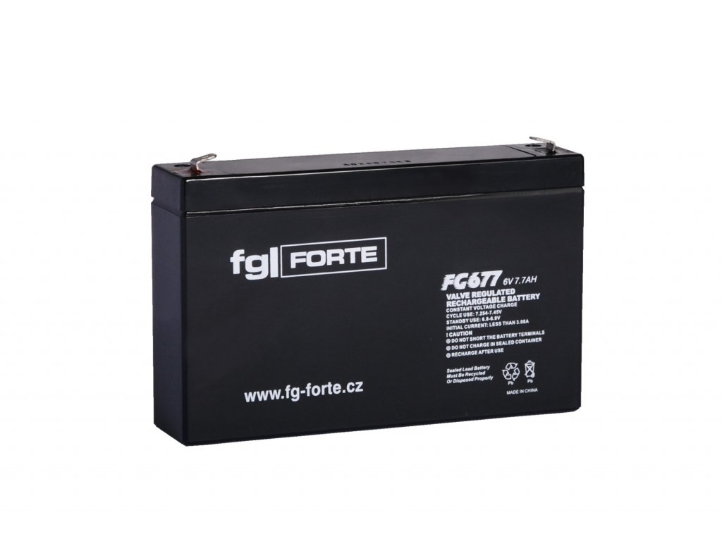Baterie 6V/7,7 Ah - Záložní zdroj