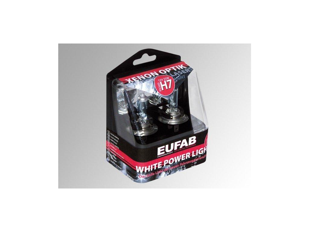 Autožárovky EUFAB H7, White Power Light - 2ks