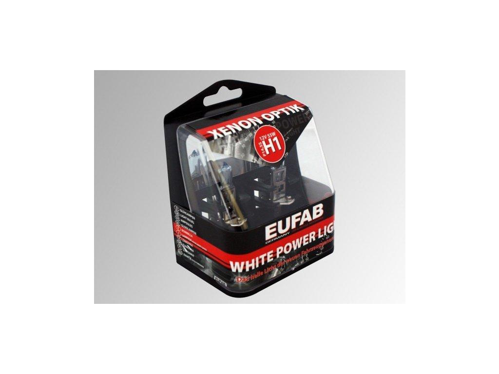 Autožárovky EUFAB H1 White Power Light 2ks