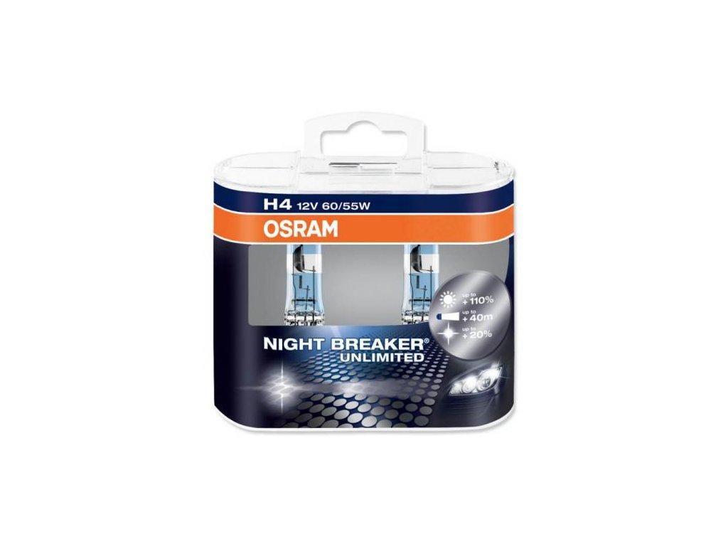 Žárovky H4 OSRAM NIGHT BREAKER UNLIMITED® (sada - 2ks)