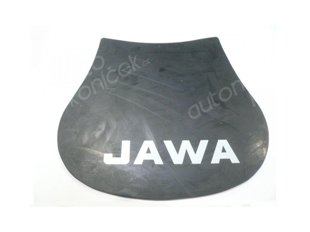 Zástěrka blatníku nápis JAWA UNI  CZ