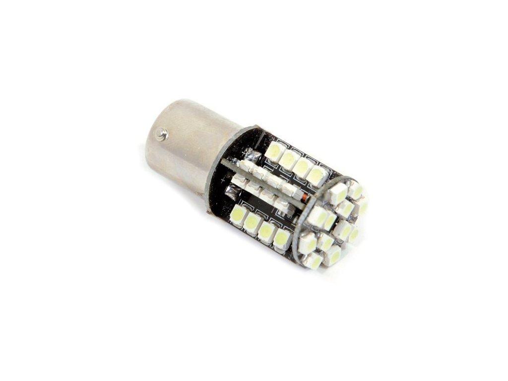 Žárovka 44 SMD LED 12V Ba15S s rezistorem CAN-BUS ready bílá