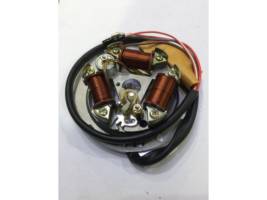 Stator magneta komplet SIMSON 6V kladívko  N.V