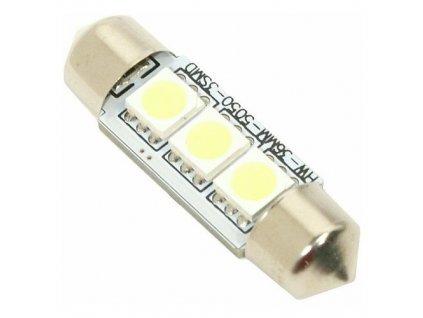 Žárovka 3 SMD LED 12V suf. SV8.5 s rezistorem CAN-BUS ready bílá