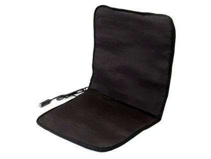 Potah sedadla vyhřívaný s termostatem 12V - černý