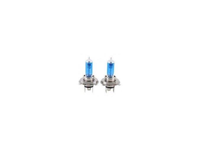 Žárovka 12V 100/90W H4  modrá  HBL  sada