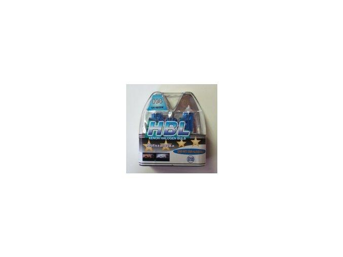 Žárovka 12V H4 60/55W modrá HBL SADA