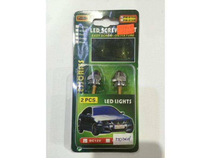 Osvětlení šrouby 12V modré sada 2ks