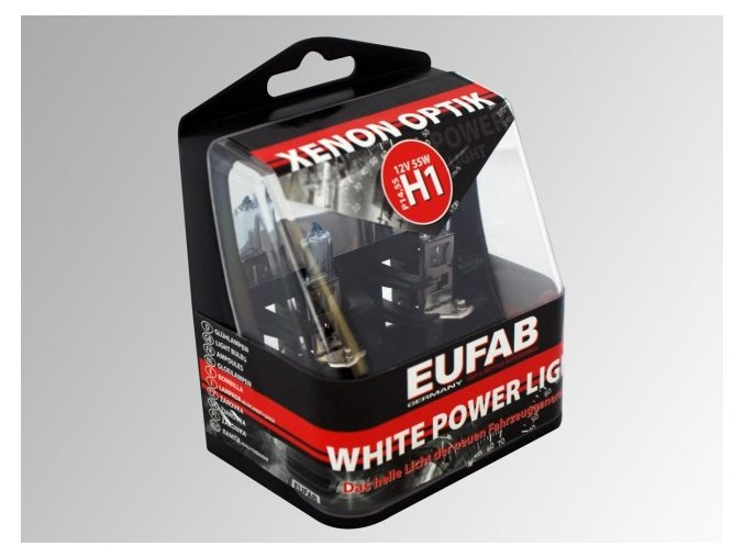Autožárovky EUFAB H1 White Power Light 2ks