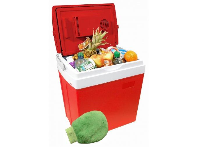 Chladící box 30litrů RED 220/12V displej s teplotou