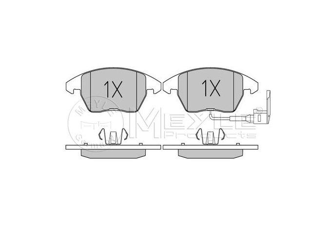 Desky brzd přední OCTAVIA II / SUPERB II / YETI 2,0TDI 288+312x22+ signalizace  MEYLE / DE (5K0698151, 5K0698151A, 1K0698151, 1K0698151C, 1K0698151E, 1K0698151L)